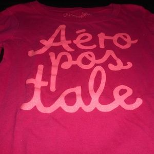 Aeropostale Red Long Sleeve Shirt